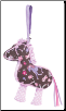 "Pink Filly Horse Sillo-ette Purse 8"" by Douglas"
