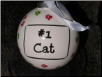 "Ceramic Cat Ornament ""#1 Cat"" by Tumbleweed Pottery"