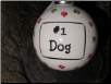 "Ceramic Dog Ornament ""#1 Dog"" by Tumbleweed Pottery"