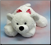 "Floppy White Valentine Bear 19"" by Wishpets"