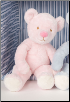 "Pink Snoozy Infant Chime Bear 11"" by Douglas"