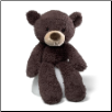 "Fuzzy Chocolate Bear 13.5"" by Gund"