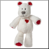 "Marshmallow Zoo Kisses Teddy Bear 13"" by Mary Meyer"