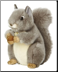 "Gray Squirrel Medium 10"" by Miyoni"