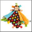 "TAGGIES Dazzle Dots Monkey Character Blanket 14"" by Mary Meyer"