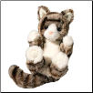 "Gray Striped Cat Lil' Handful Stuffed Animal 6"" by Douglas"