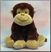 "Brown Fluffy Monkey 15"" by Wishpets"