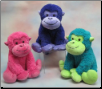 "Bright Fluffy Pillow Monkey 15"" by Wishpets"
