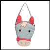 "Horse Head Lil Sak Purse 8"" by Douglas"