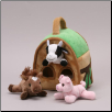 "Farm House with Finger Puppets 7"" by Unipak Designs"