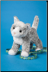 "Scatter Gray Cat 8"" by Douglas"
