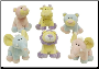 "Baby Zoo Animals with Rattle 8"" by Wishpets by Wishpets"