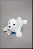 "Snowflake White Seal 9"" by Douglas"