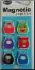 Fuzzy Creatures Mini Photo Magnetic Page Clips Set of 6 by Re-marks