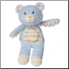Thready Teddy Plush Rattle – Blue – 6.5″ by Mary Meyer
