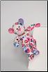 "Flower Child Peace Bear Fuzzle 11"" by Douglas"