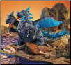 "Blue Three-Headed Dragon Hand Puppet 12"" by Folkmanis"
