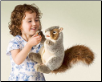 "Gray Squirrel Hand Puppet 11"" by Folkmanis"