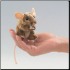 "Mini Field Mouse Finger Puppet 4"" by Folkmanis"