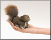Mini Red Squirrel Finger Puppet by Folkmanis
