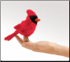 "Mini Cardinal Finger Puppet 5.5"" by Folkmanis"