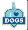 I Love Dogs Luggage Tag by LittleGifts
