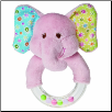 "Ella Bella Elephant Rattle 5"" by Mary Meyer"
