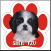 Shih Tzu, black and white puppy cut Car Magnet by E&S Pets
