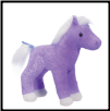 "Crystal Purple Sparkle Horse 6"" by Douglas"