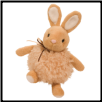 "Oatmeal Tan Puff Bunny 8"" by Douglas"