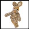 "Tumble Gray Bunny Large 18"" by Douglas"