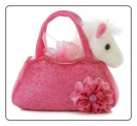 "Fancy Pal Pink Pet Carrier with Horse 8"" by Aurora"