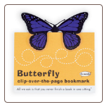 Purple Butterfly Clip-Over-The-Page Bookmark by Re-Marks