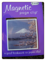 Mount Fuji Deluxe Single Magnetic Page Clip Bookmark by Re-marks
