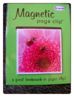 Wildlife Ladybug and Flower Deluxe Single Magnetic Page Clip Bookmark by Re-marks