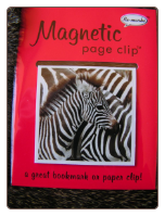 Wildlife Zebra Deluxe Single Magnetic Page Clip Bookmark by Re-marks