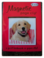 Yellow Lab in a Box Deluxe Single Magnetic Page Clip Bookmark by Re-marks