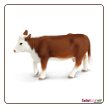 "Safari Farm:  Hereford Cow 5.5"" by Safari Ltd"