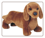 "Gretel Red Dachshund 12"" by Douglas"