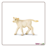 "Safari Farm:  Charolais Calf 3.5"" by Safari Ltd"
