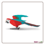 "Wings of the World:  Green Winged Macaw Figure 5"" by Safari Ltd"