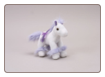 "Purple and White Fancy Horse  7"" by Unipak Designs"