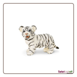 "Wildlife Wonders:  White Bengal Tiger Cub Figure 3"" by Safari Ltd"