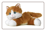"Sunshine Tabby Orange and White Cat 8"" by Aurora"