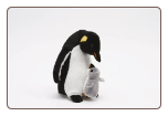 "Mr Penguin and Baby 12"" by Unipak"