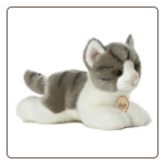 "Grey Tabby Cat Small 8"" by Miyoni"