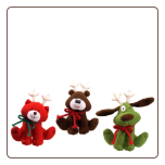 "Christmas Animal Chatter Sound Plush 4.5"" by Gund"