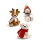 "Whimsy Wishes Holiday Rattles 6.5"" by Gund"