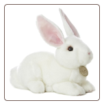 "American White Bunny Rabbit Medium 11"" by Miyoni"