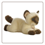 "Siamese Cat Small 8"" by Miyoni"